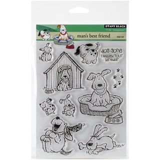 Penny Black Clear Stamps 5inX6.5in SheetMan's Best Friend