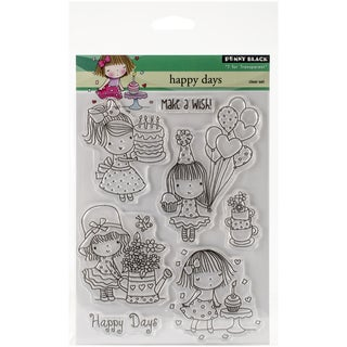 Penny Black Clear Stamps 5inX6.5in SheetHappy Days