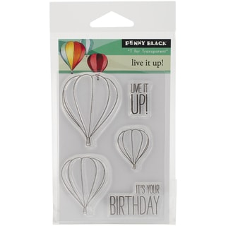 Penny Black Clear Stamps 3inX4in SheetLive It Up!