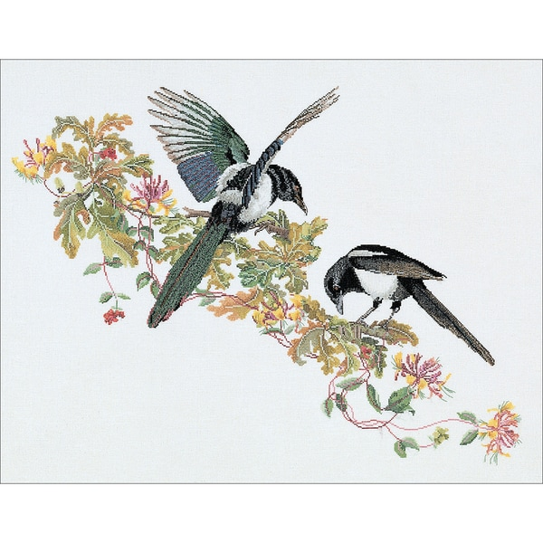 Magpie On Aida Counted Cross Stitch Kit25.75inx18.85in 18 Count