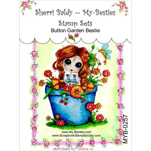 My Besties Clear Stamps 4inX6inButton Garden Bestie