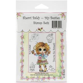 My Besties Clear Stamps Set 4inX6inYou're So Sweet Cupcakes