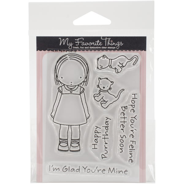 My Favorite Things Pure Innocence Stamps 3inX4in SheetFeline Better