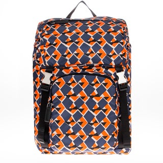 Prada Printed Nylon Backpack