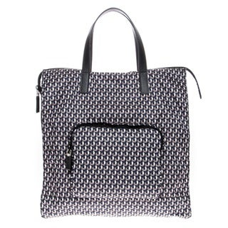 Prada Octagon Patterned Nylon Tote Bag