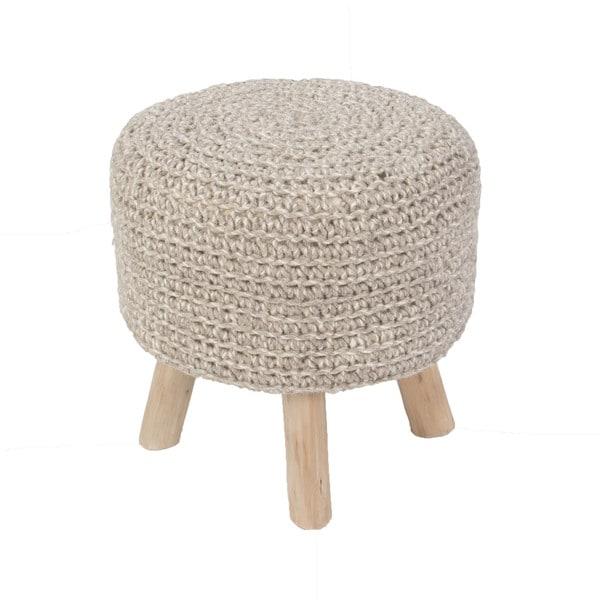 Solid Pattern Pumice stone/Pumice stone Wool 16-inch Pouf