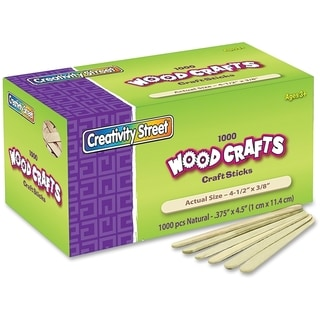 ChenilleKraft Wood Crafts Natural Craft Sticks