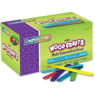 ChenilleKraft 377502 Colored Wood Craft Stick