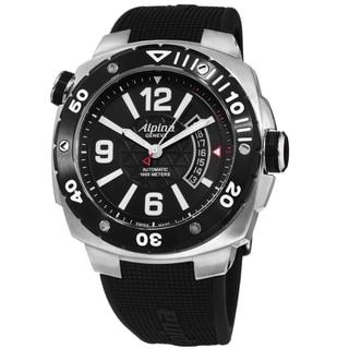 Alpina Men's AL-525LBB5AEV6 'Extreme Diver' Black Dial Black Rubber Strap Swiss Automatic Watch