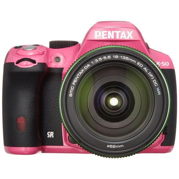 Pentax K-50 Pink 16.3MP DSLR Camera with 18-135mm Lens