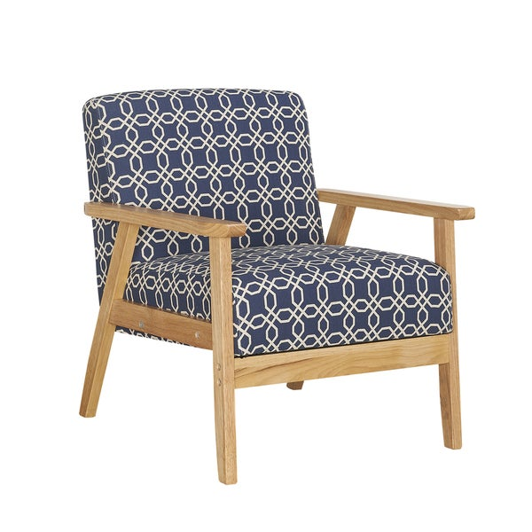 Ayleward navy blue leisure armchair for small space living for Armchairs for small spaces