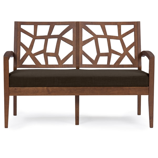 Jennifer Mid-century Dark Brown Modern Loveseat