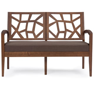 Baxton Studio Jennifer Modern Loveseat with 'Gravel' Fabric Seat