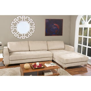 Agnew Contemporary Beige Fabric Right Facing Sectional Sofa