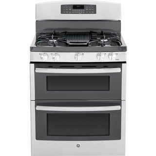 GE 30-inch Freestanding Gas Convection Range with Double Oven