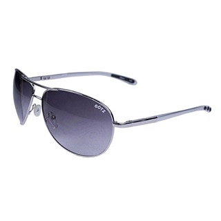 Gotz Switzerland Silvertone Aviator Sunglasses