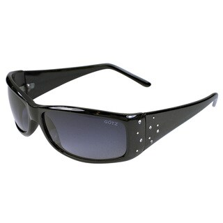 Black Rhinestone Studded Acetate Sunglasses