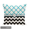Decorative 500-hour Outdoor Moroccan and Chevron Mixed Print 20-inch Pillow