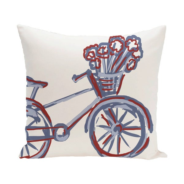 Decorative 500-hour Outdoor Large Novelty Bike Print 20-inch Pillow