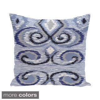 Decorative Outdoor Geometric Swirl 20-inch Pillow