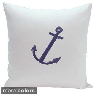 Decorative Outdoor Nautical Anchor Coastal Print 20-inch Pillow