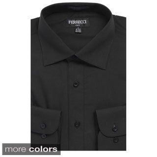 Men's Premium Cotton/ Polyester Blend Long Sleeve Dress Shirt