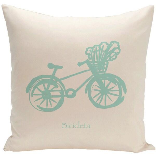 Decorative 500-hour Outdoor Novelty Bike Print 20-inch Pillow