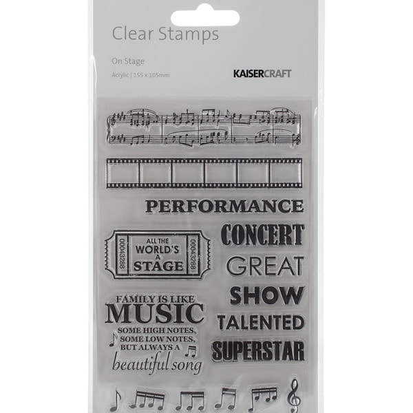 On Stage Clear Stamps 6.25inX4in