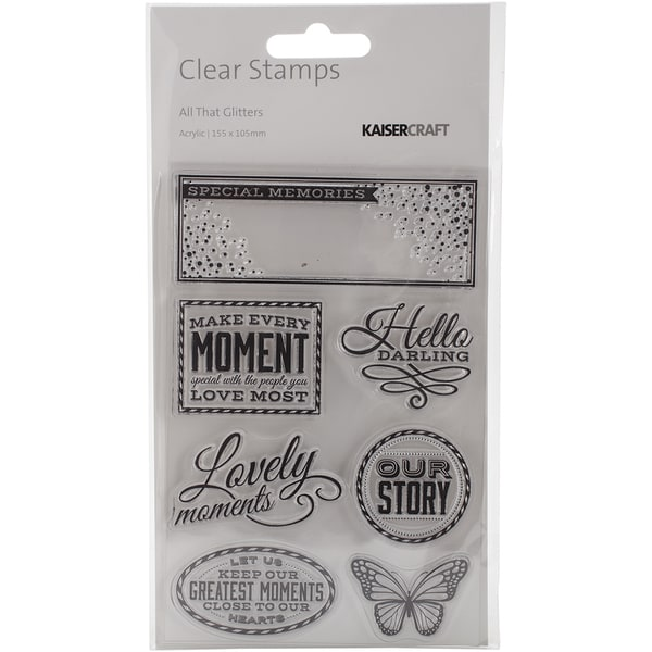 All That Glitters Clear Stamps 6.25inX4in