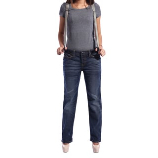 Anladia Women's Stretch Vintage Dark Wash Jeans