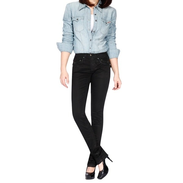 Stitch's Women's Skinny Black Denim Jeans