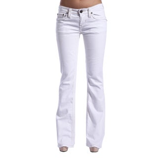 Stitch's Women's White Boot Cut Jeans
