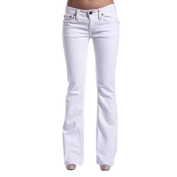Stitch's Women's White Boot Cut Jeans