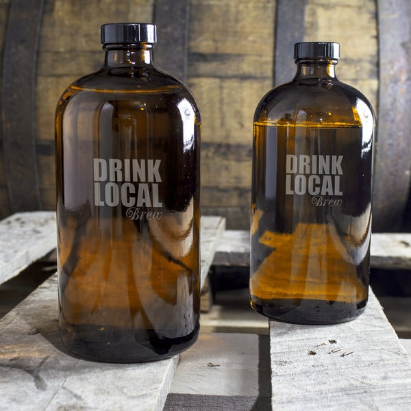 Drink Local 16-ounce Bullet Growlettes (Set of 2)