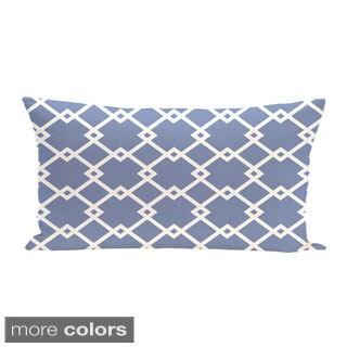Geometric Print 14 x 20-inch Decorative Pillow