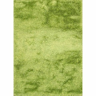 Lyric Lime Green Hand Knotted Shag Rug