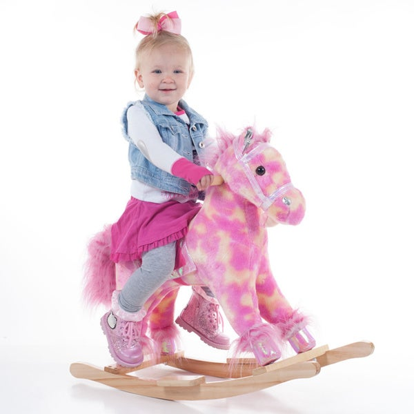 Happy Trails 'Paris the Pink Pony' Rocking Horse 15418645