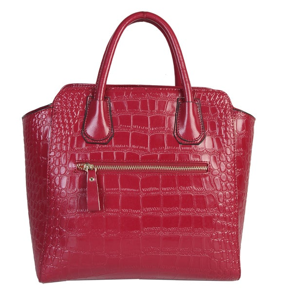 Mllecoco Genuine Leather Textured Structured Tote