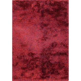 Lyric Royal Red Hand Knotted Shag Rug