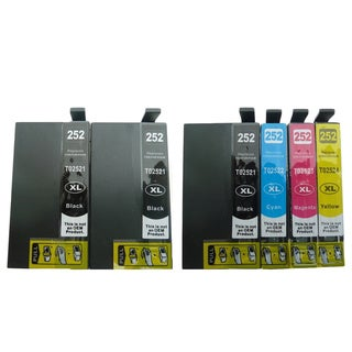 6-pack Replacing T252XL Ink Cartridge for Epson WF-3620 WF-3640 WF-7110 WF-7610 WF-7620 Printer