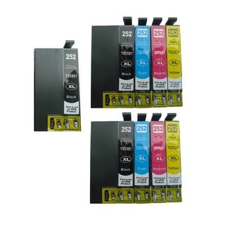 9-pack Replacing T252XL Ink Cartridge for Epson WF-3620 WF-3640 WF-7110 WF-7610 WF-7620 Printer