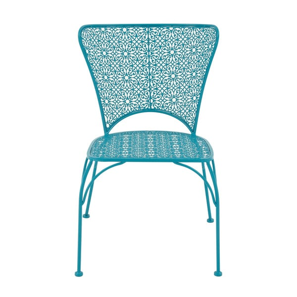 Blue Metal Flower Chair