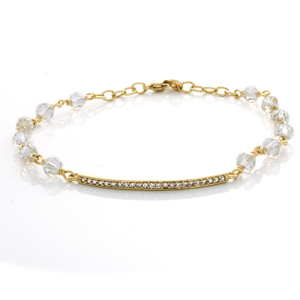 Sterling Essentials Gold Plated Bronze Bar Bracelet