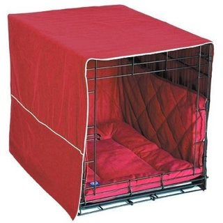 Pet Dreams Classic Cratewear Dog Crate Cover Burgundy