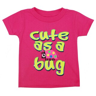 Artisans Apparel Infant Girls' 'Cute As A Bug' Short Sleeve T-shirt