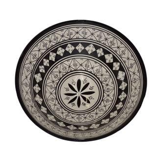 Moroccan Black and White Ceramic Bowl (Morocco)