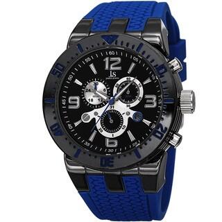 Joshua & Sons Sporty Men's Swiss Quartz Chronograph Silicone Strap Watch