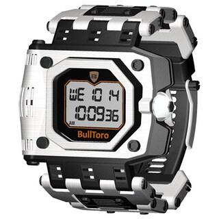 Stainless Steel Case and Bracelet Men's Digital Watch
