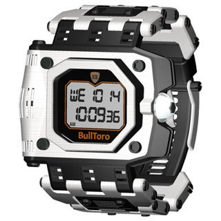 Stainless Steel Case and Bracelet Men's Digital Watch