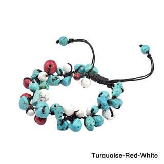 Infinite Stone Cluster Cotton Rope Adjustable Bracelet (Thailand)